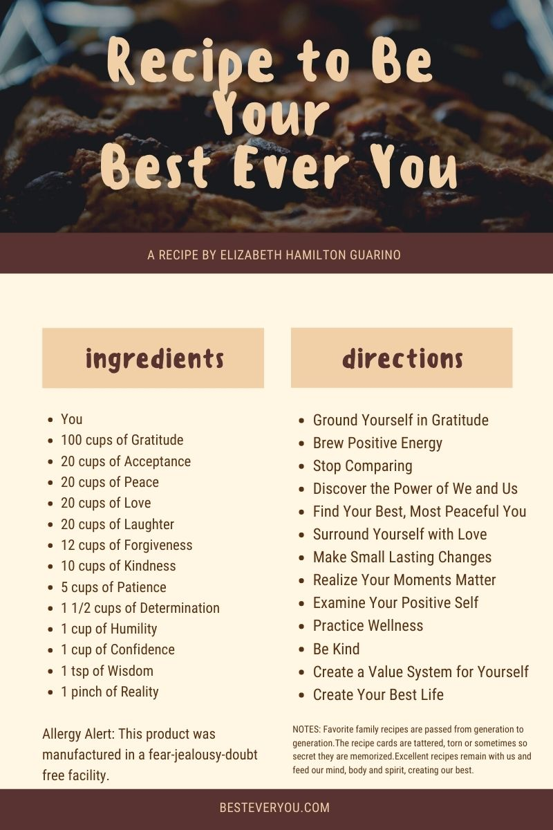Recipe to Be Your Best Ever You