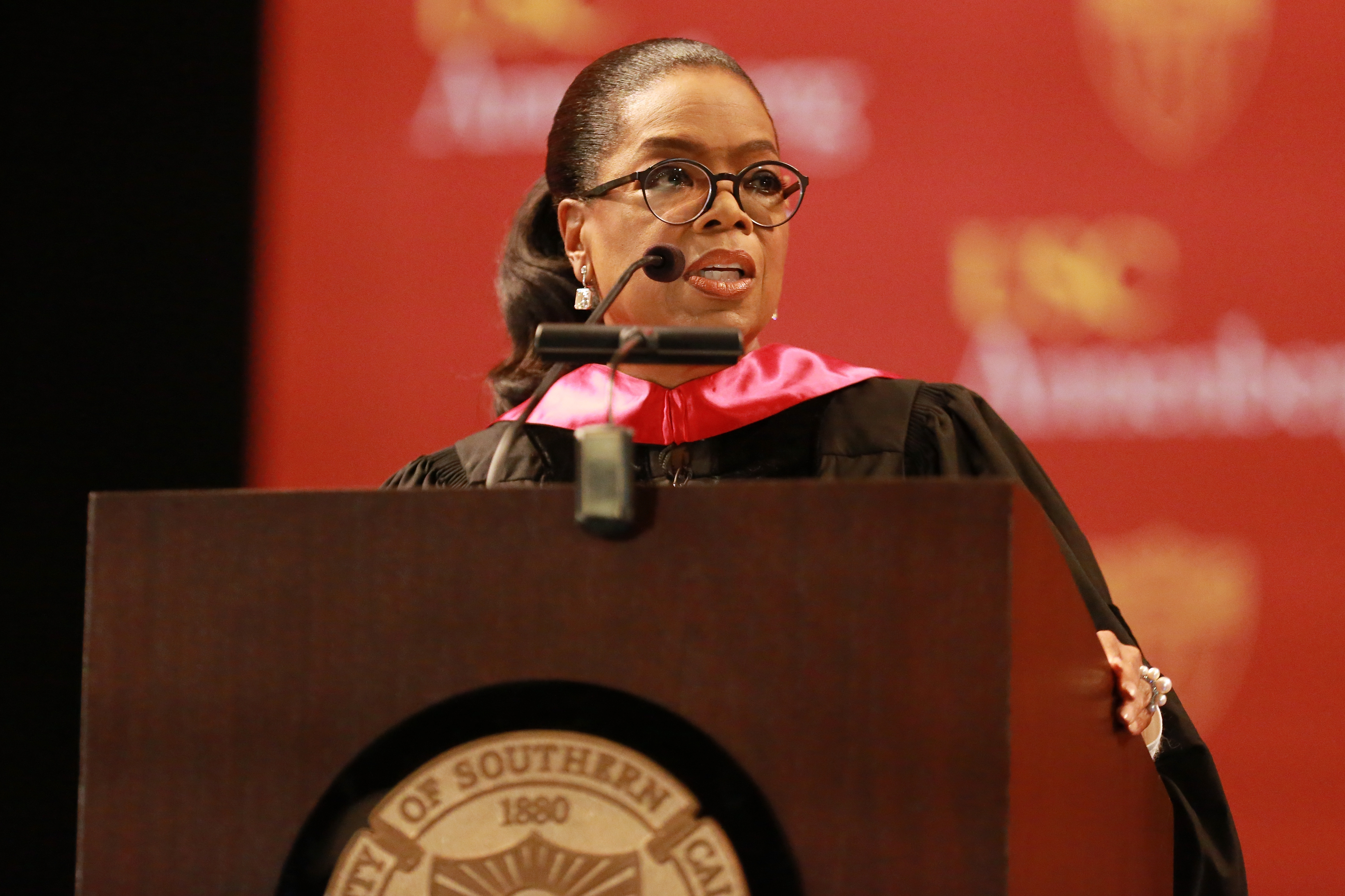 Oprah Winfrey at USC Annenberg School for Communications and Journalism