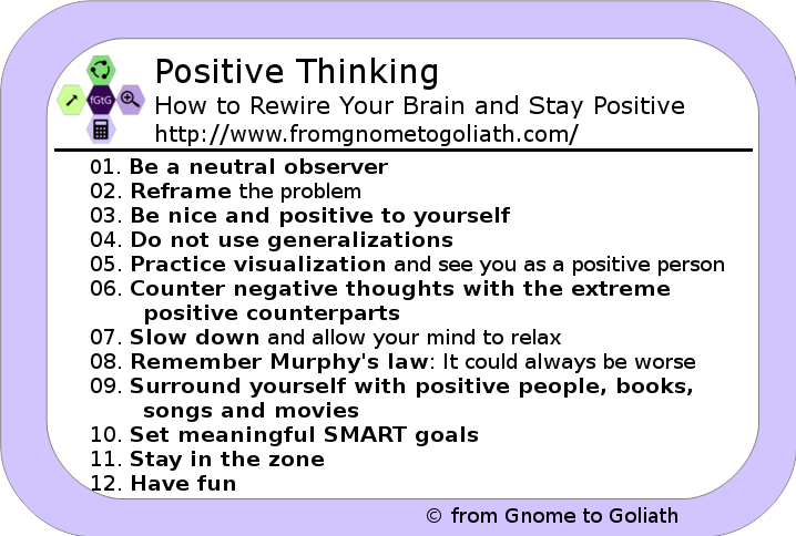 paragraph on positive thinking