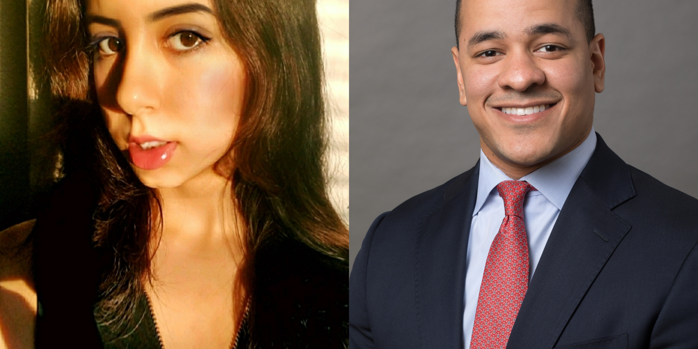 Anya Thakur, (the author) left and Triston Francis, (Student Body Co-President at Harvard Business School) right.