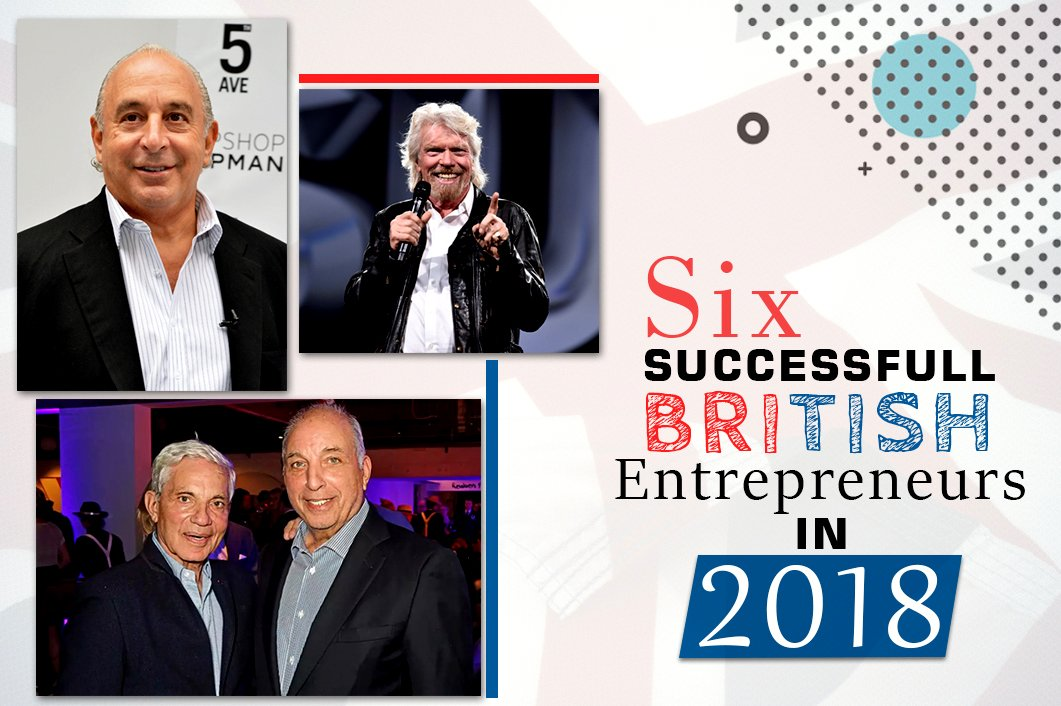 6 Successful British Entrepreneurs in 2018