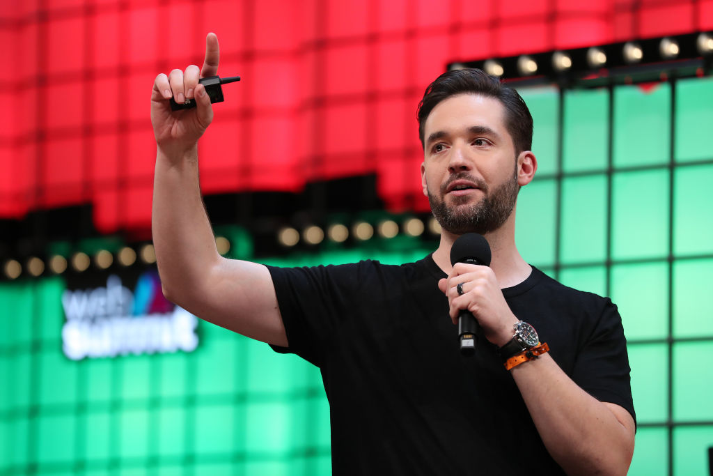 Initialized Capital Co-founder Alexis Ohanian speaks during the Web Summit 2018 in Lisbon, Portugal on November 6, 2018. (Photo by Pedro Fiúza/NurPhoto via Getty Images)