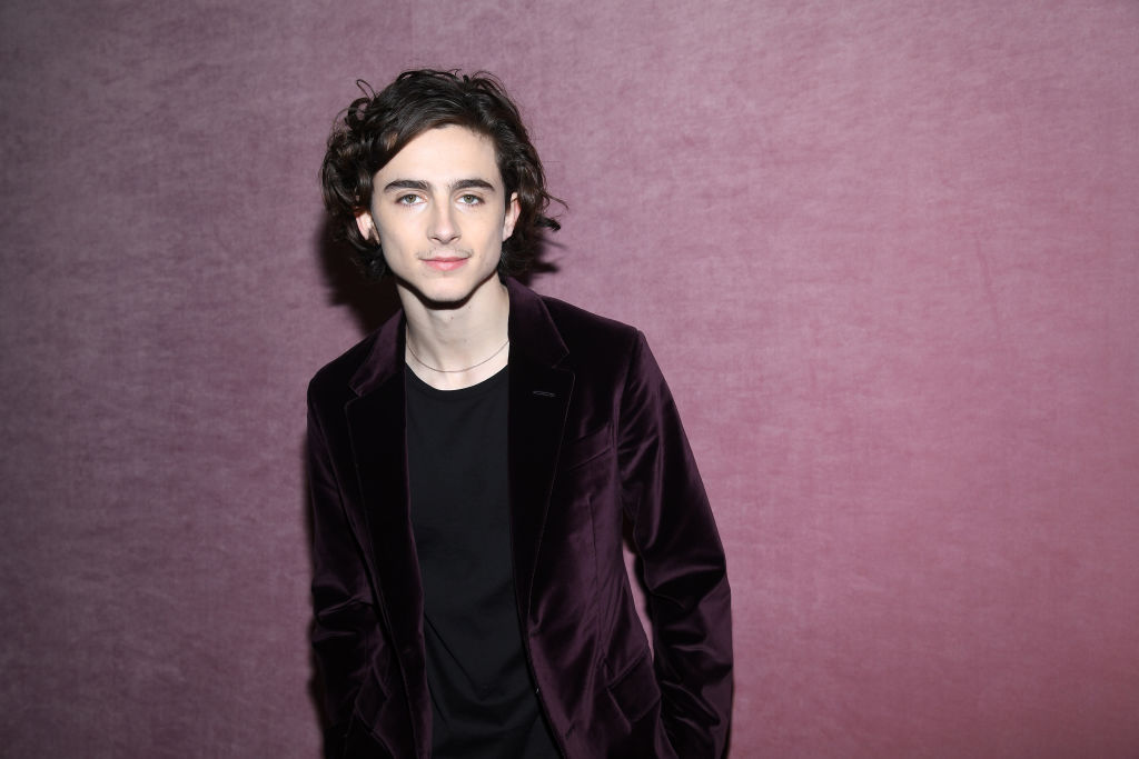 PARIS, FRANCE - JANUARY 19:  Timothee Chalamet attends the Berluti Menswear Fall/Winter 2018-2019 show as part of Paris Fashion Week on January 19, 2018 in Paris, France.  (Photo by Pascal Le Segretain/Getty Images)