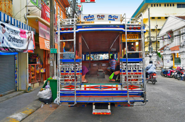 red-truck-taxi-thailand