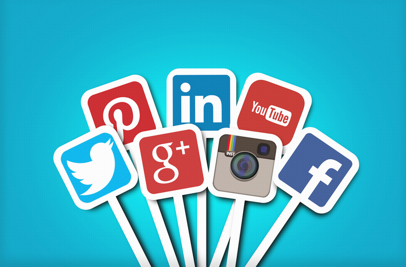 Main social networks - Brands of Facebook, Twitter, Instagram, YouTube, Google Plus, Pinterest, LinkedIn