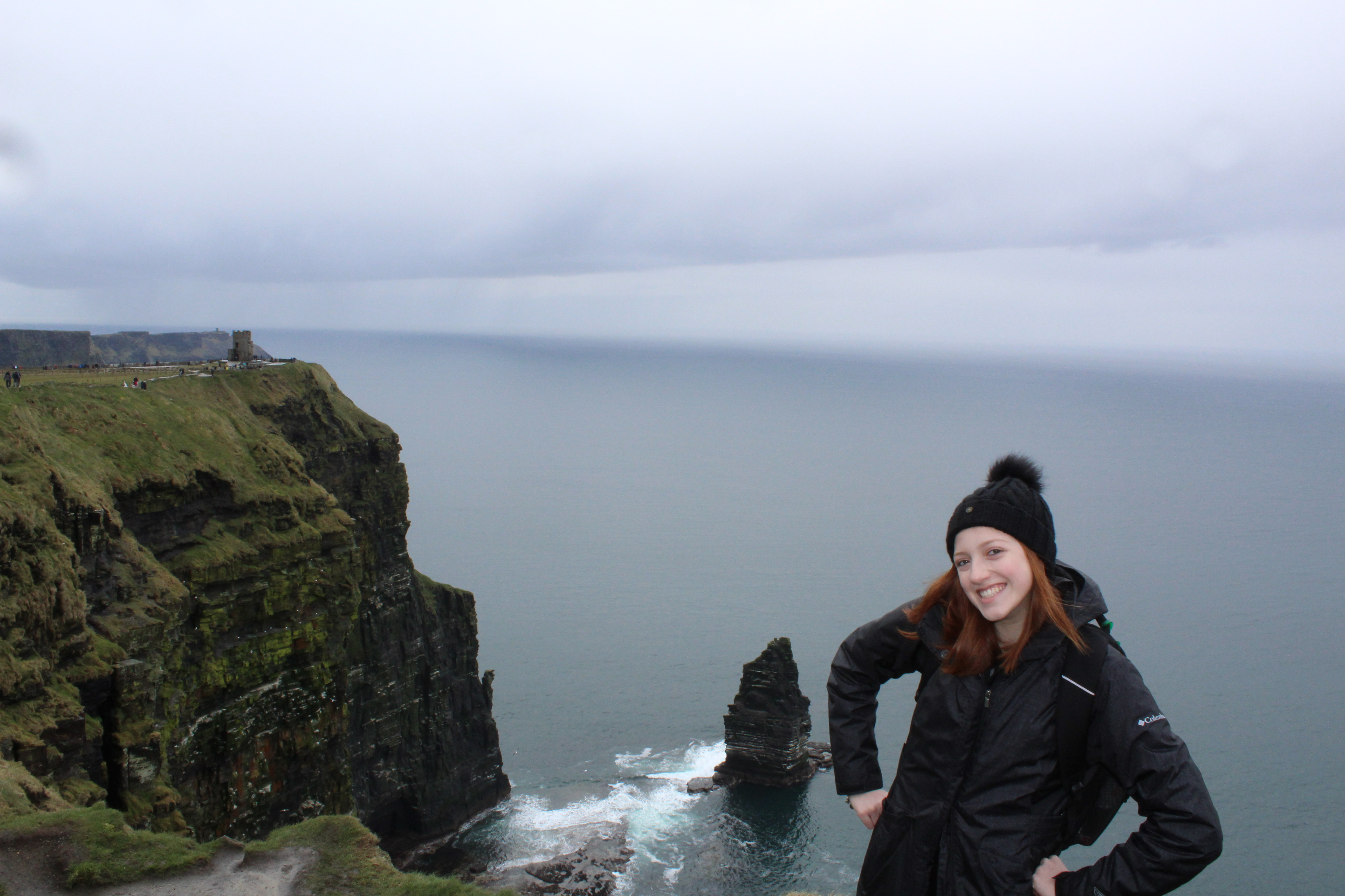 This is me standing on some pretty cool cliffs in Ireland because I figured a picture of a rotten wall wouldn't go over well