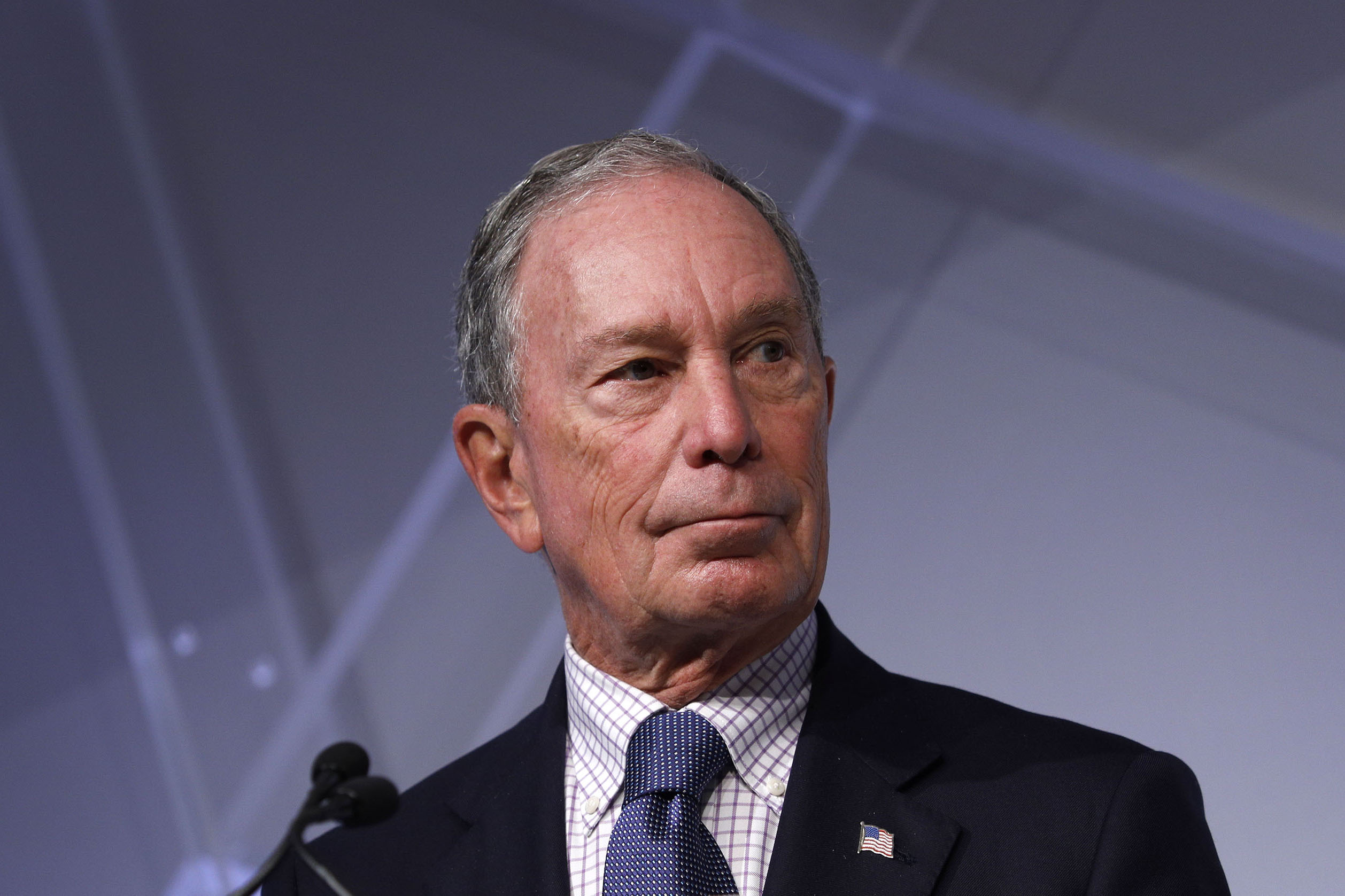 Michael Bloomberg, billionaire and alumnus of Johns Hopkins University, speaks at CityLab Detroit, a global city summit, on October 29, 2018 in Detroit, Michigan. (Photo by Bill Pugliano/Getty Images)
