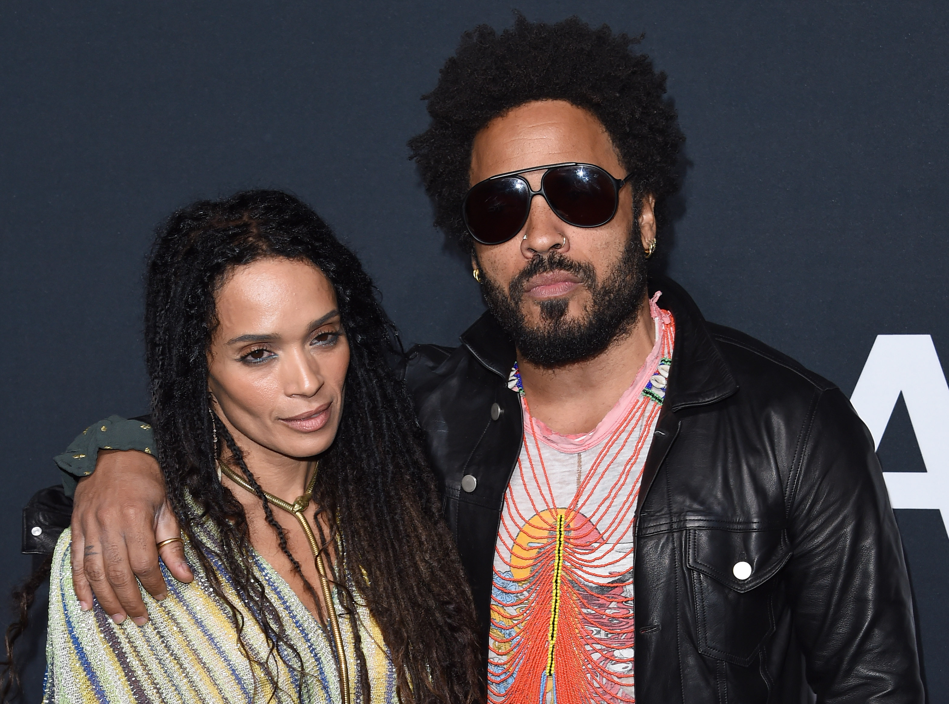 LOS ANGELES, CA - FEBRUARY 10:  Musician Lenny Kravitz (R) and actress Lisa Bonet arrive at SAINT LAURENT At The Palladium at Hollywood Palladium on February 10, 2016 in Los Angeles, California.  (Photo by Axelle/Bauer-Griffin/FilmMagic)
