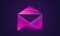 Abstract envelope icon design neon colored