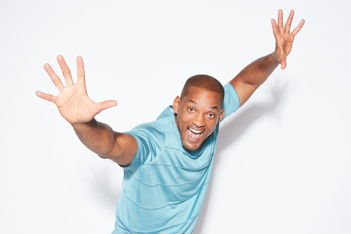 will smith white background