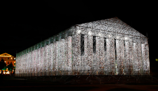 Marta Minujin, Parthenon of Books