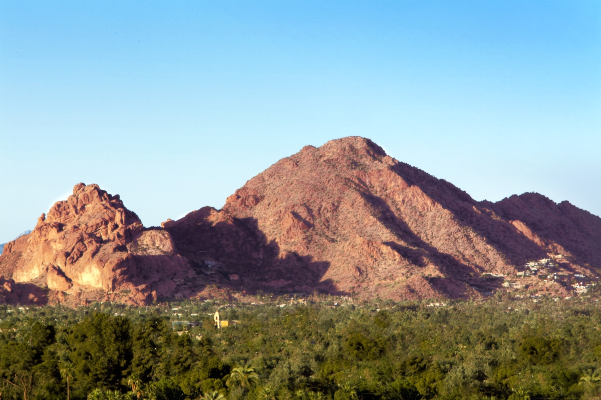 A view of Camelback Mountain in Phoenix, Arizona