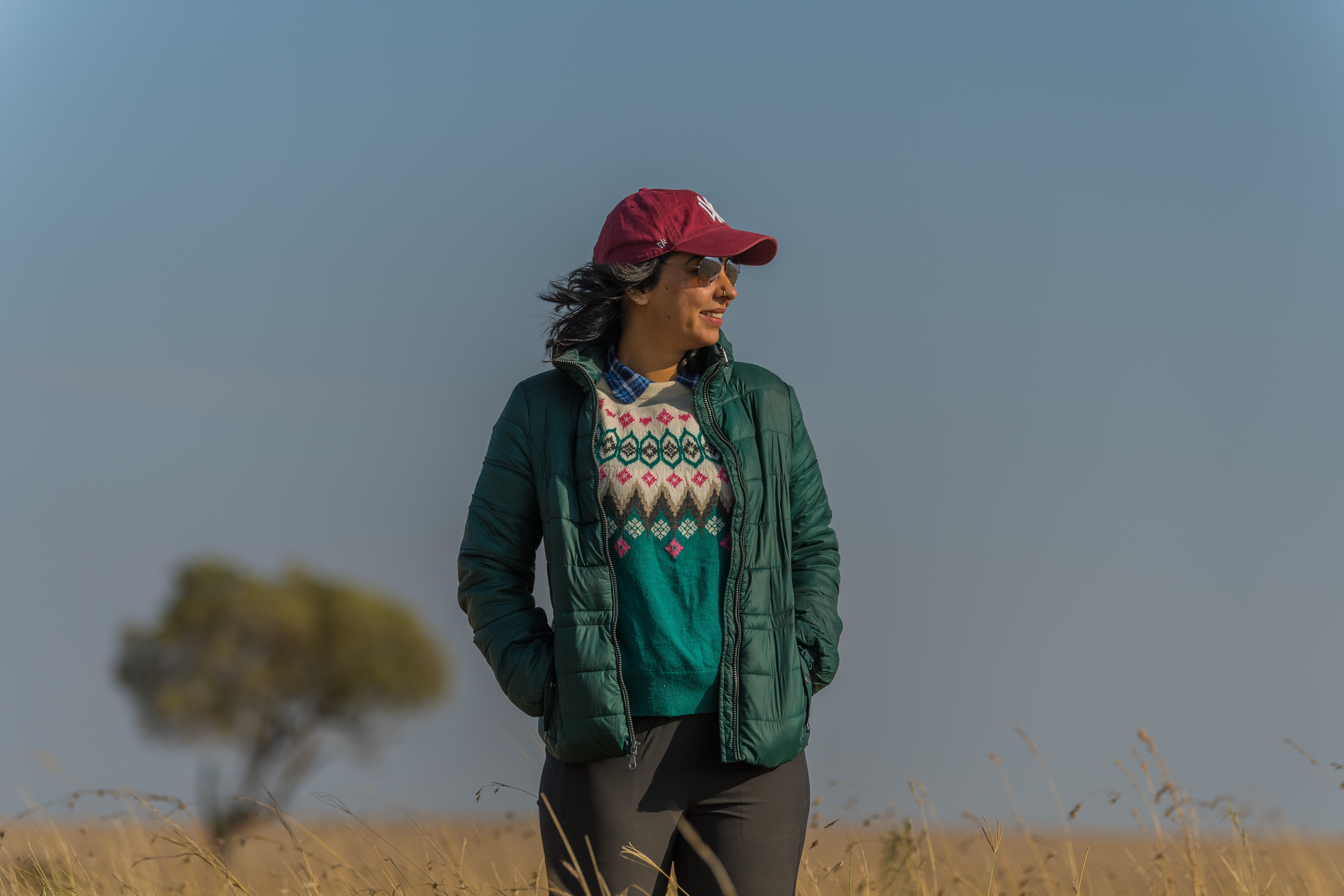 In the never ending plains of Masai Mara.