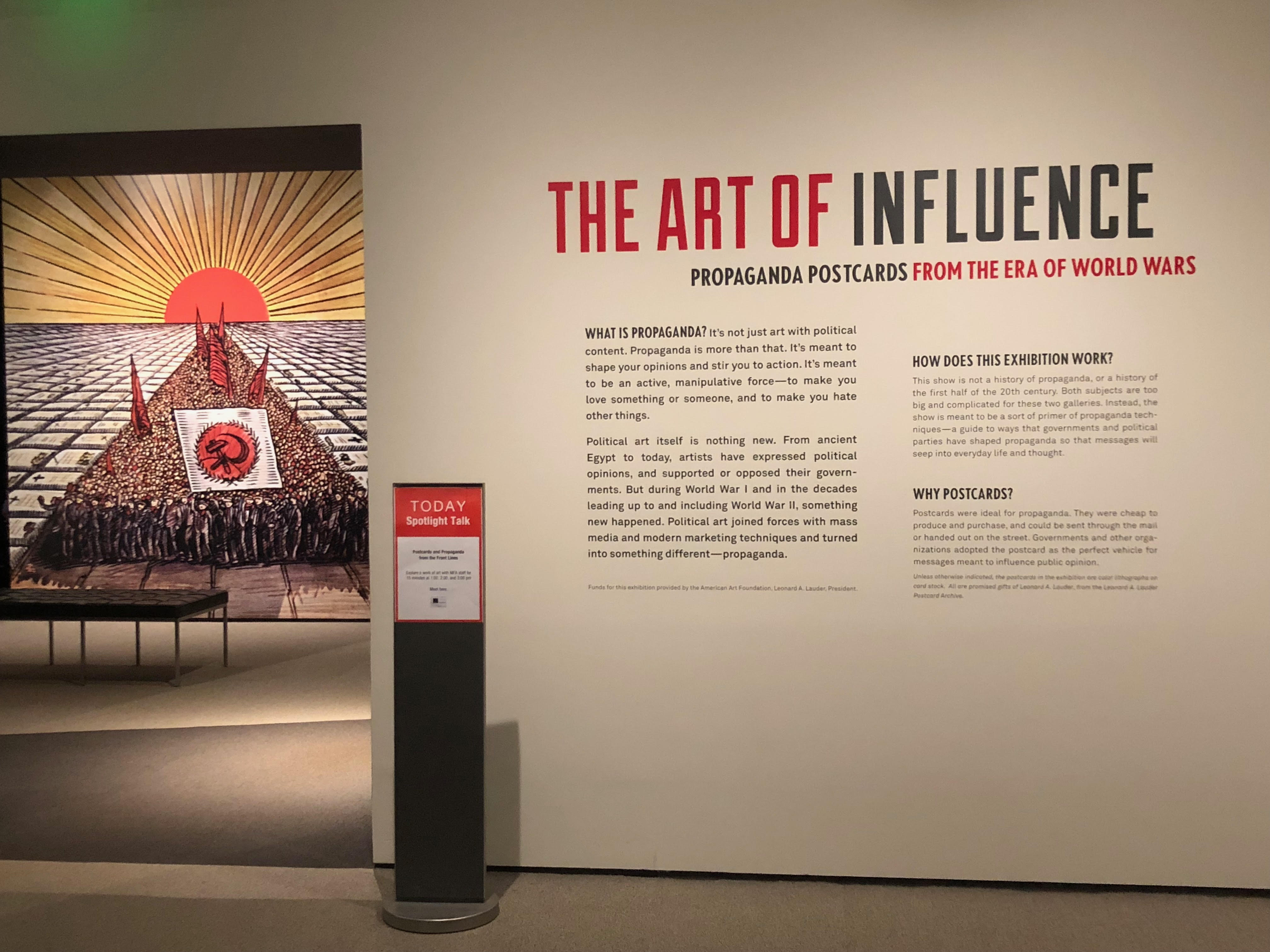 Art of Influence exhibit at the Museum of Fine Arts Boston