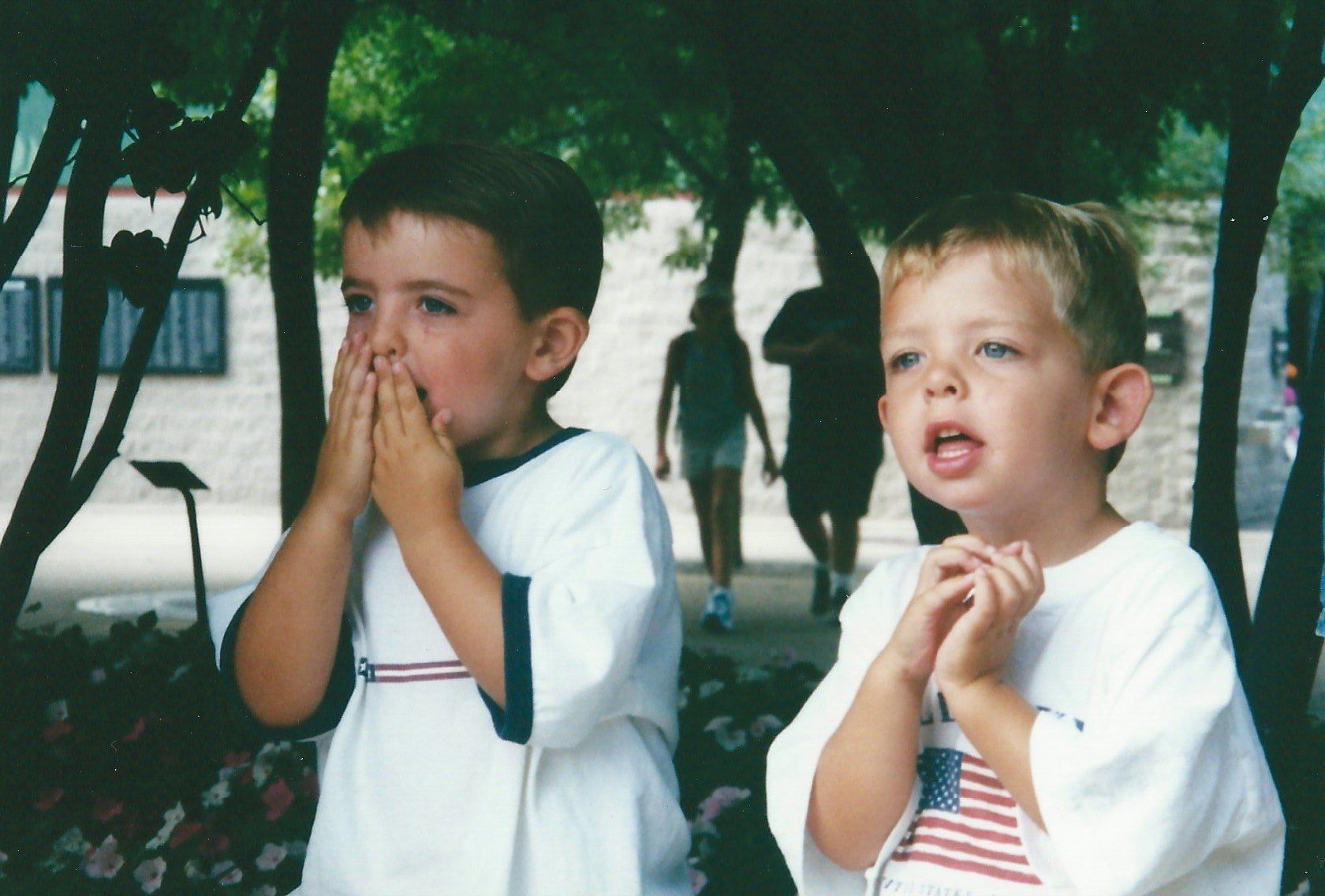 Watching a Parade, age 4ish, photo by tdp