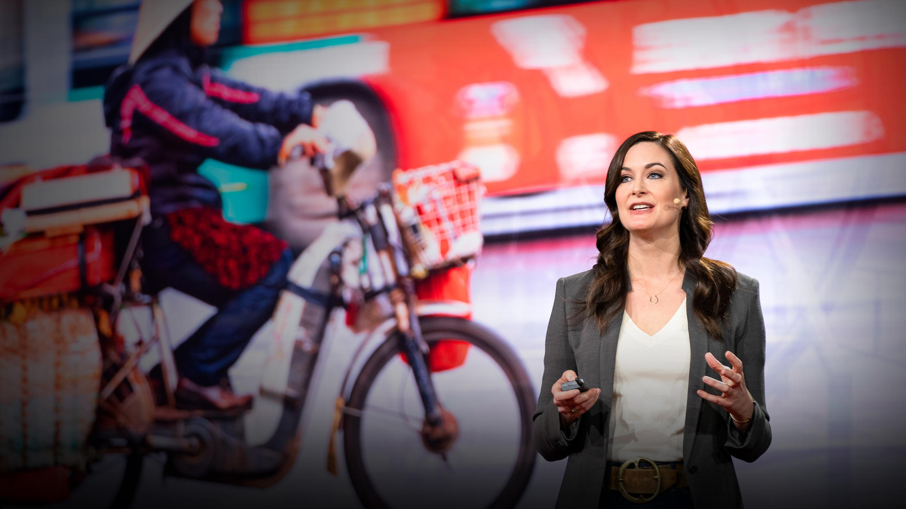 Katharine Wilkinson at TEDWomen talking about gender equity and climate change