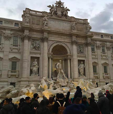 Trevi Fountain, Rome, Italy. Photo by: Natalie Pace. (c) 2019.