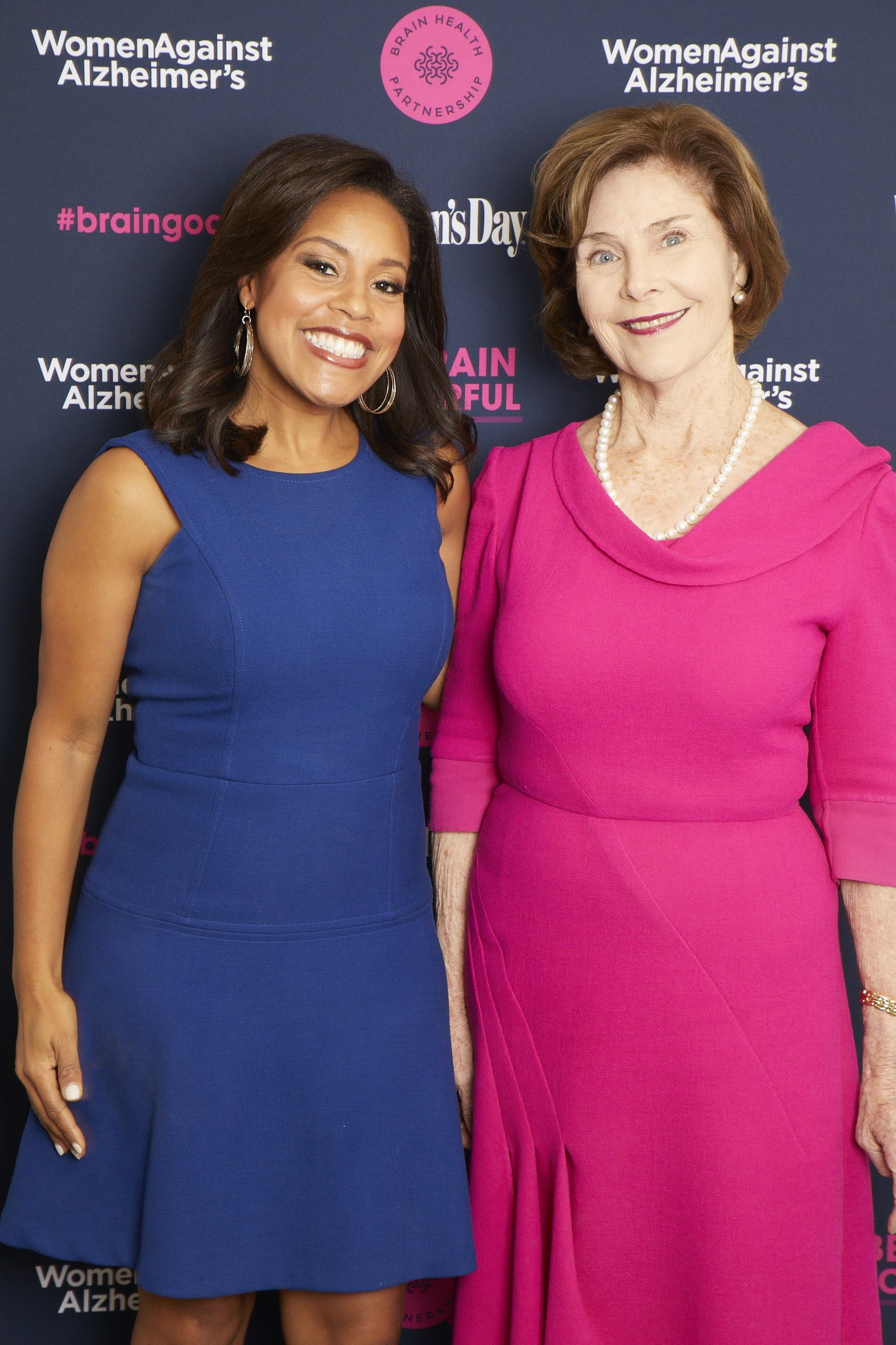 "Former First Lady Laura Bush and NBC ""Today Weekend"" anchor Sheinelle Jones join the brain health movement"