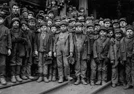 Children as young as six worked the coal mines before unions got their way.