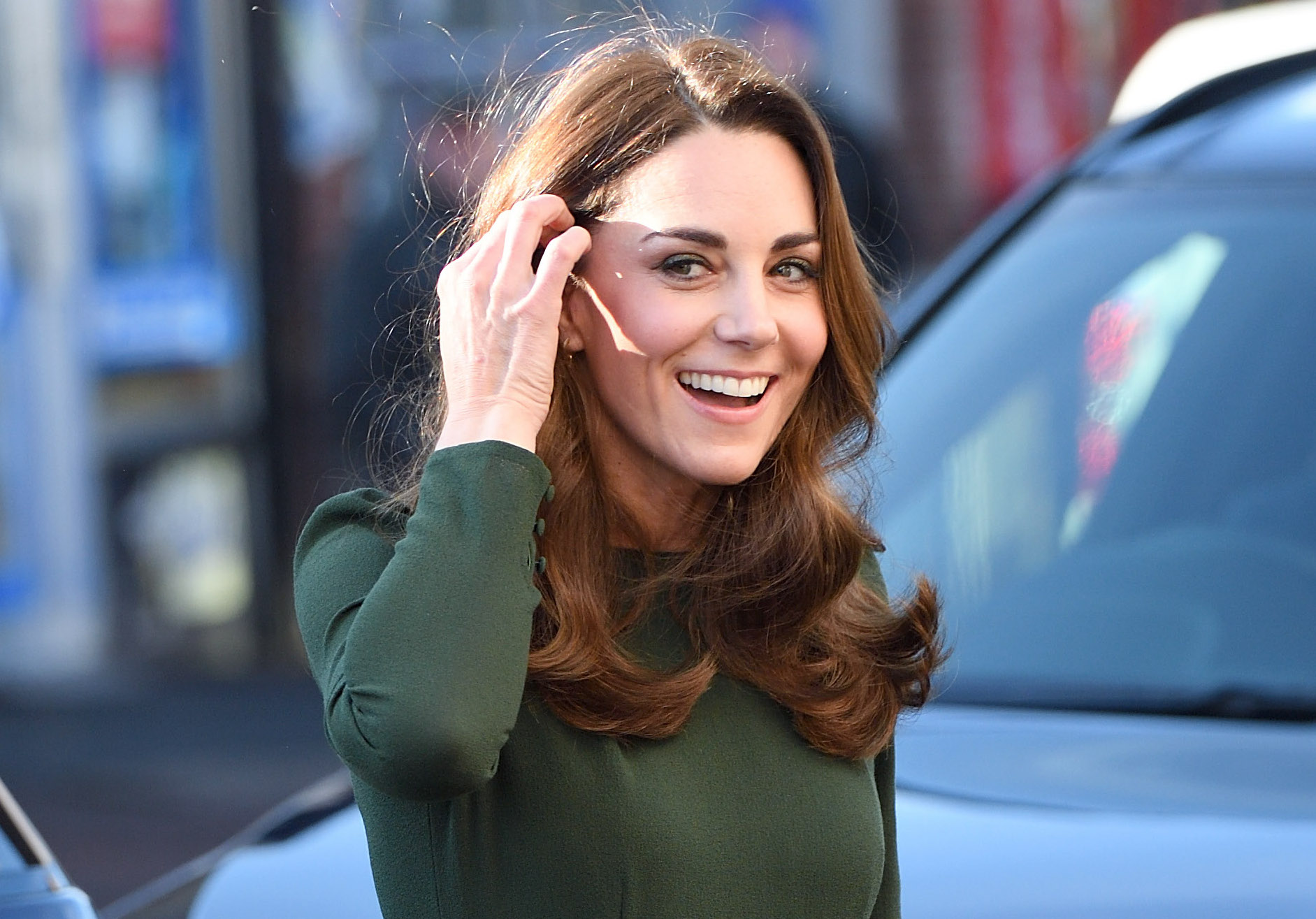 LEWISHAM, ENGLAND - JANUARY 22:  (EMBARGOED FOR PUBLICATION IN UK NEWSPAPERS UNTIL 24 HOURS AFTER CREATE DATE AND TIME) Catherine, Duchess of Cambridge visits the Family Action Charity on January 22, 2019 in Lewisham, England.  (Photo by Karwai Tang/WireImage)