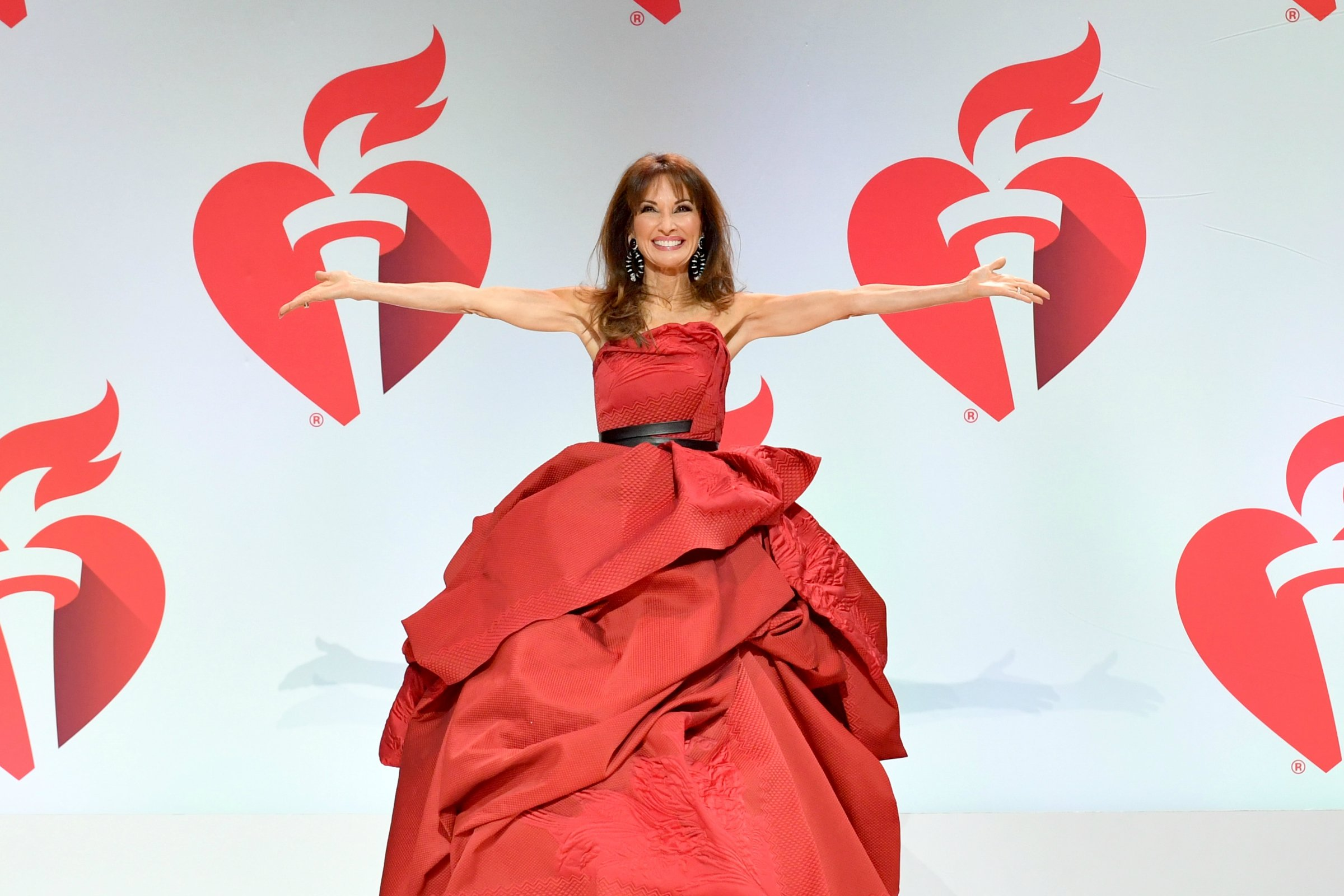 Susan Lucci walks the runway for The American Heart Association's Go Red For Women Red Dress Collection 2019 Presented By Macy's at Hammerstein Ballroom on Feb. 7 in New York. (Photo by Slaven Vlasic/Getty Images for AHA) Photo Credit - Getty Images for AHA