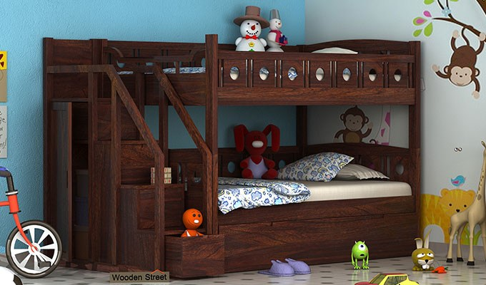There Is Also A Style To Stamp A Study To The Kids Room With A Summation Of  A Study Table To The Bed. Kids Bed Designs Are Nowadays ...