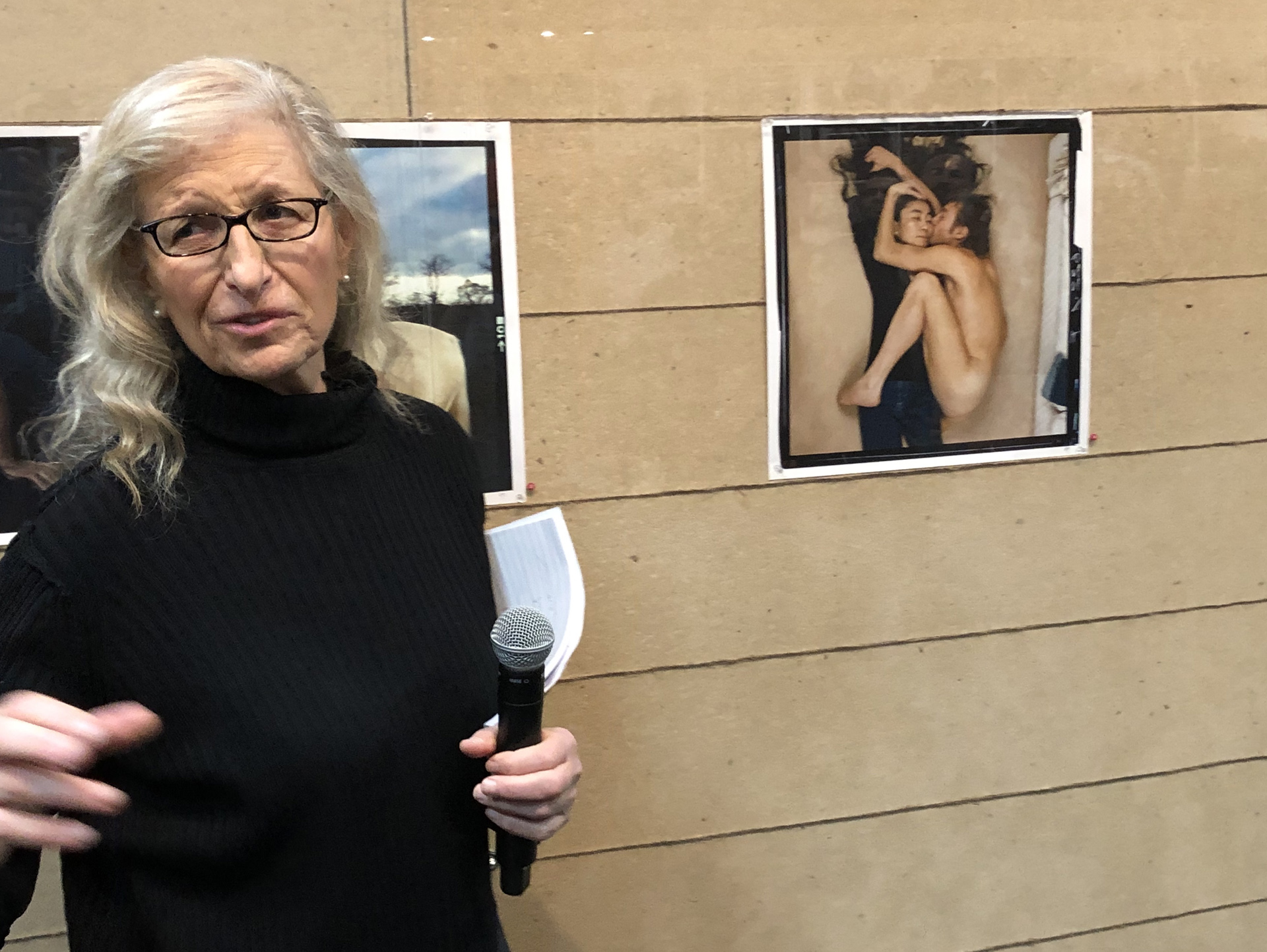 Annie Leibovitz talks about that infamous day; photo by Kathy Leonardo