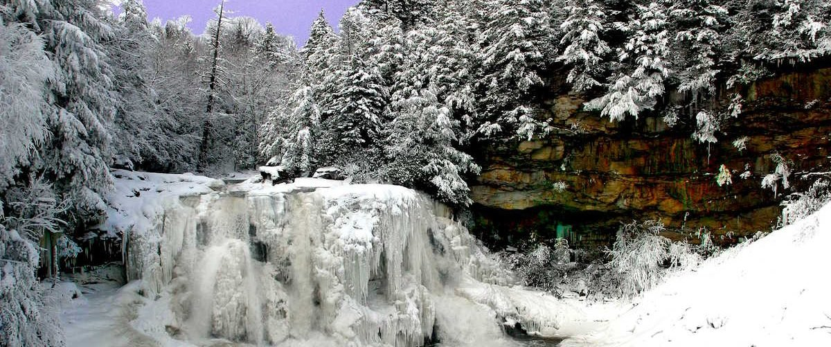 Frozen Blackwater Falls, West Virginia