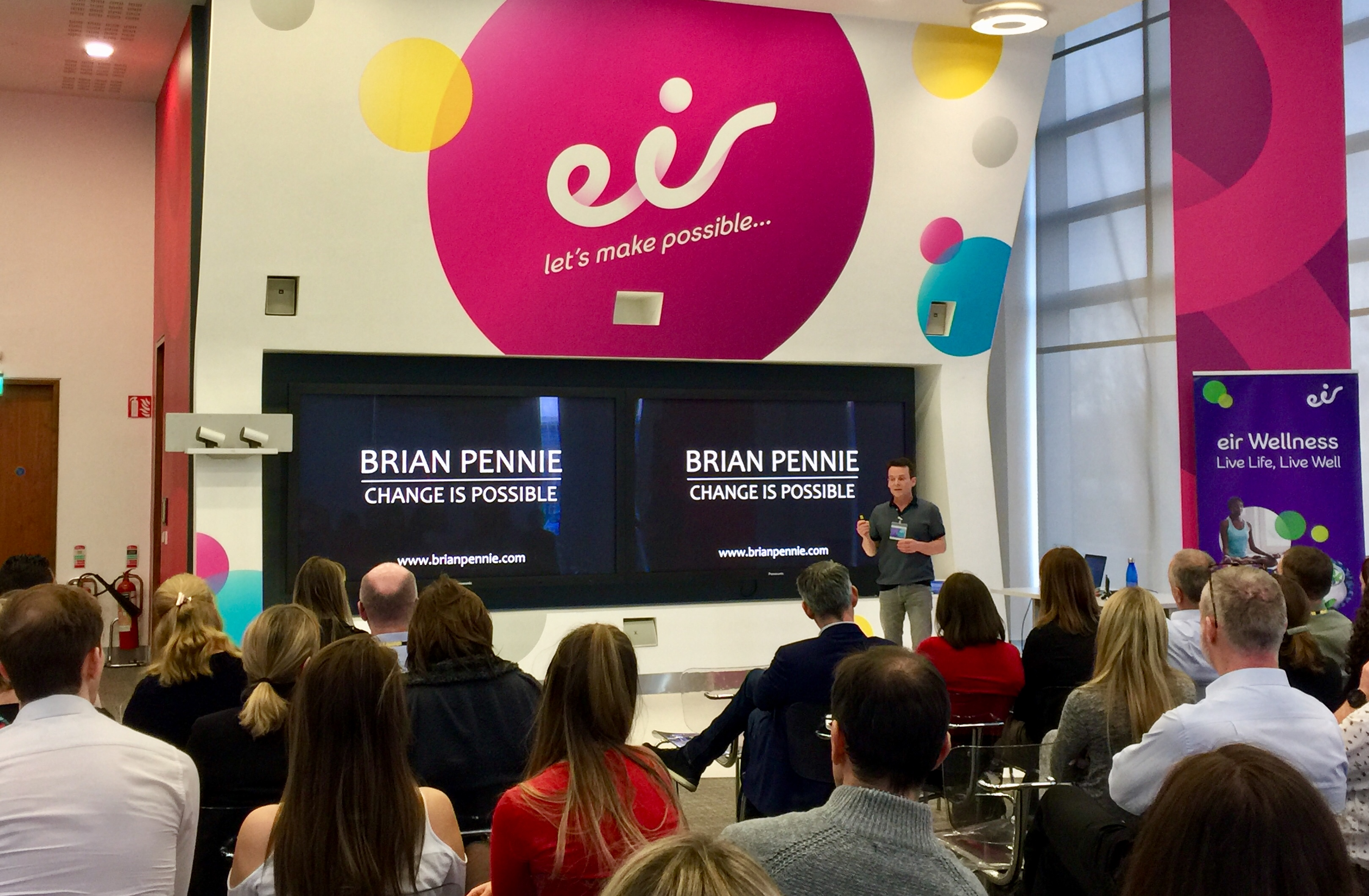 "Source: That's me talking about ""tactics for life"" in Eir, Ireland's largest telecommunications company, all because of that email"