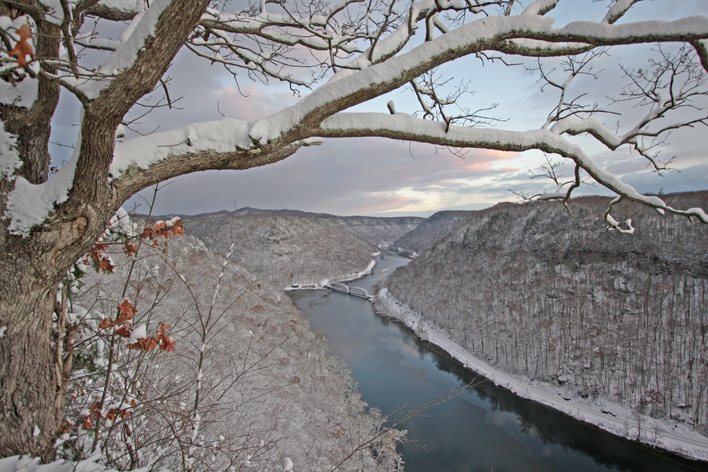 New River Gorge in the Snow