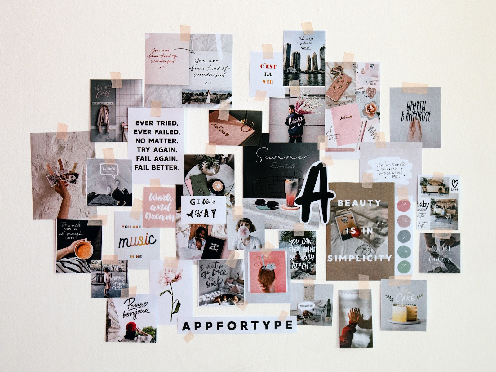 decorative collage on wall Photo by Andy Art on Unsplash