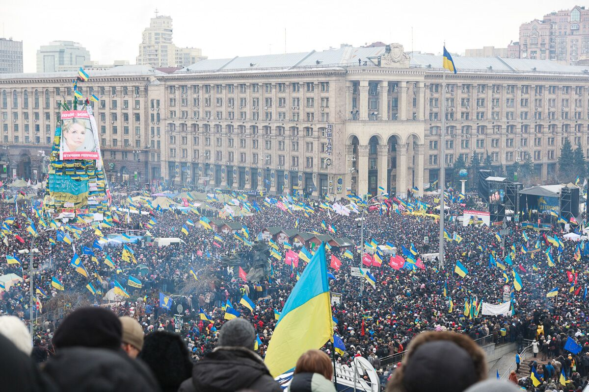 The euphoric & energetic crowds of the Euromaidan Revolution led to modern Ukraine, which is now being written. Photo by Maksym Bilousov