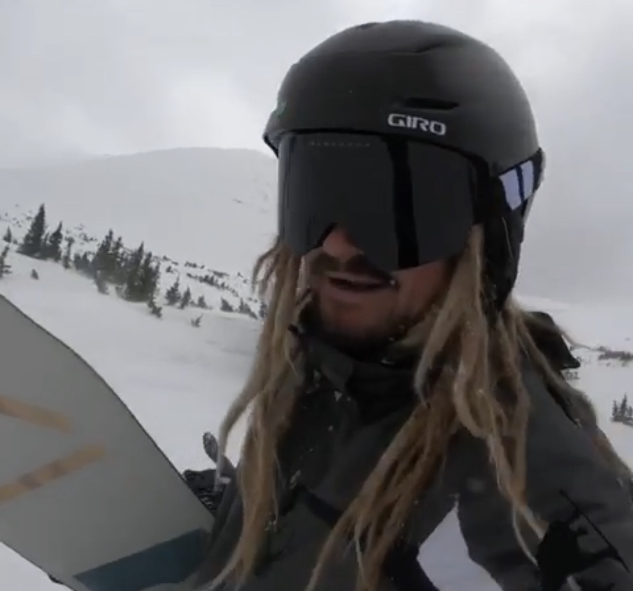 Austin Keen Professional Skimboarder Hits The pow pow in Breckenridge, Colorado