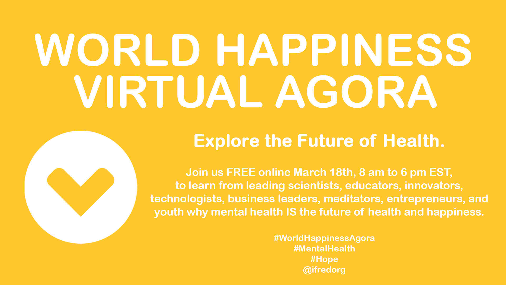 Join Global Mental Health Experts online Monday, March 18th
