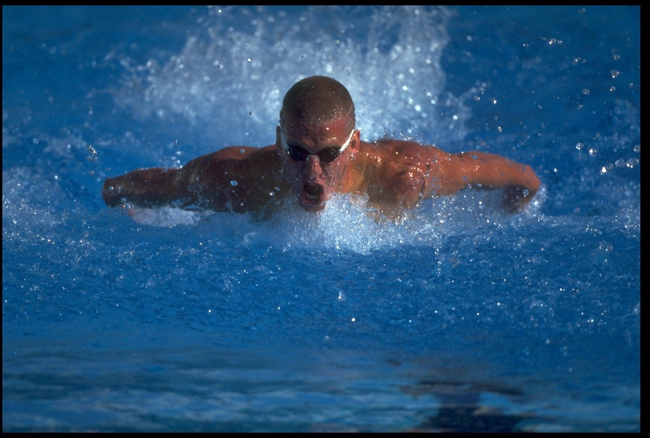 6 Sep 1994:  Mark Henderson of the USA competes during the World Swim Championships. Mandatory credit:  Simon Bruty/Allsport