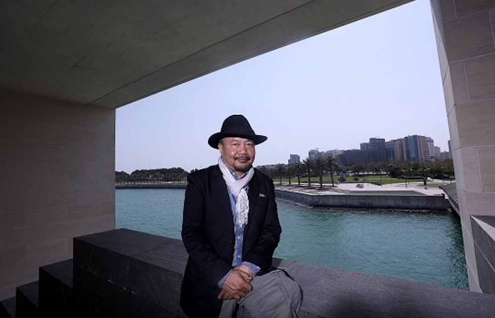 Filmmaker Rithy Panh in Qatar, photo courtesy of the Doha Film Institute