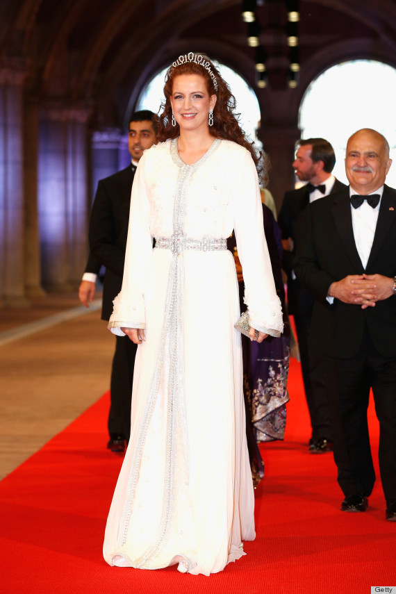 AMSTERDAM, NETHERLANDS - APRIL 29:  Princess Lalla Salma of Morocco attends a dinner hosted by Queen Beatrix of The Netherlands ahead of her abdication in favour of Crown Prince Willem Alexander at Rijksmuseum on April 29, 2013 in Amsterdam, Netherlands.  (Photo by Michel Porro/Getty Images)