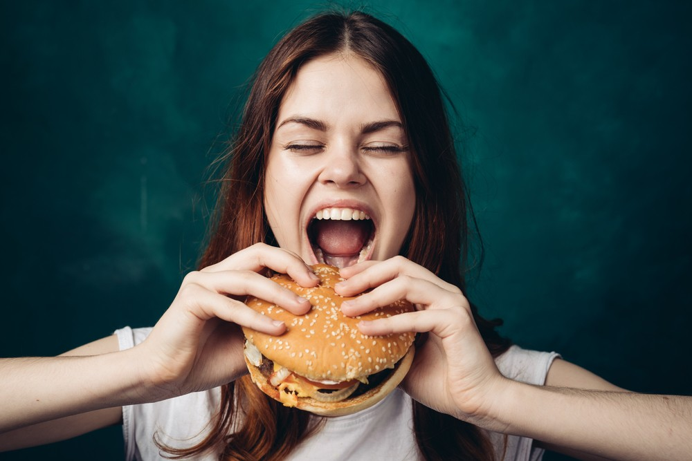 Eating-fast-food