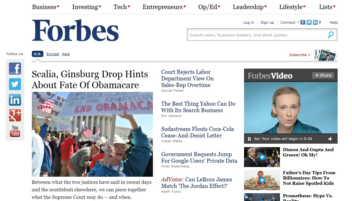 Forbes Home Page