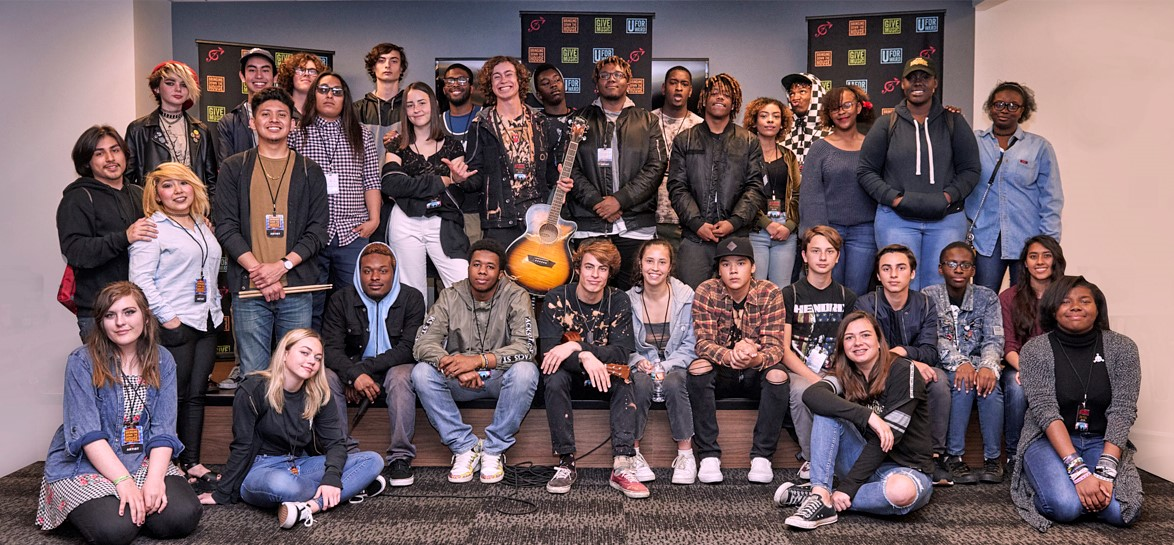 HOB Music First Workshops shoot at Live Nation Offices, Hollywood, CA, United States.  Photographer: Paul Frocchi