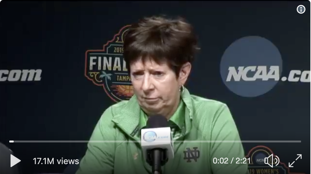 Muffett McGraw video still