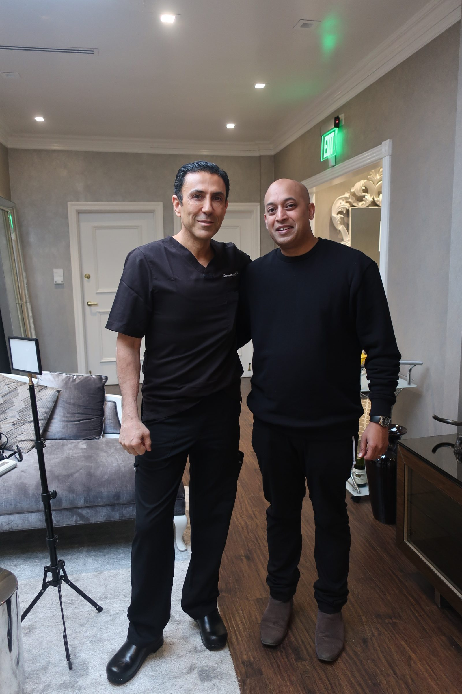 Dr. Simon Ourian with Legacy Documentarian Sharad Khare