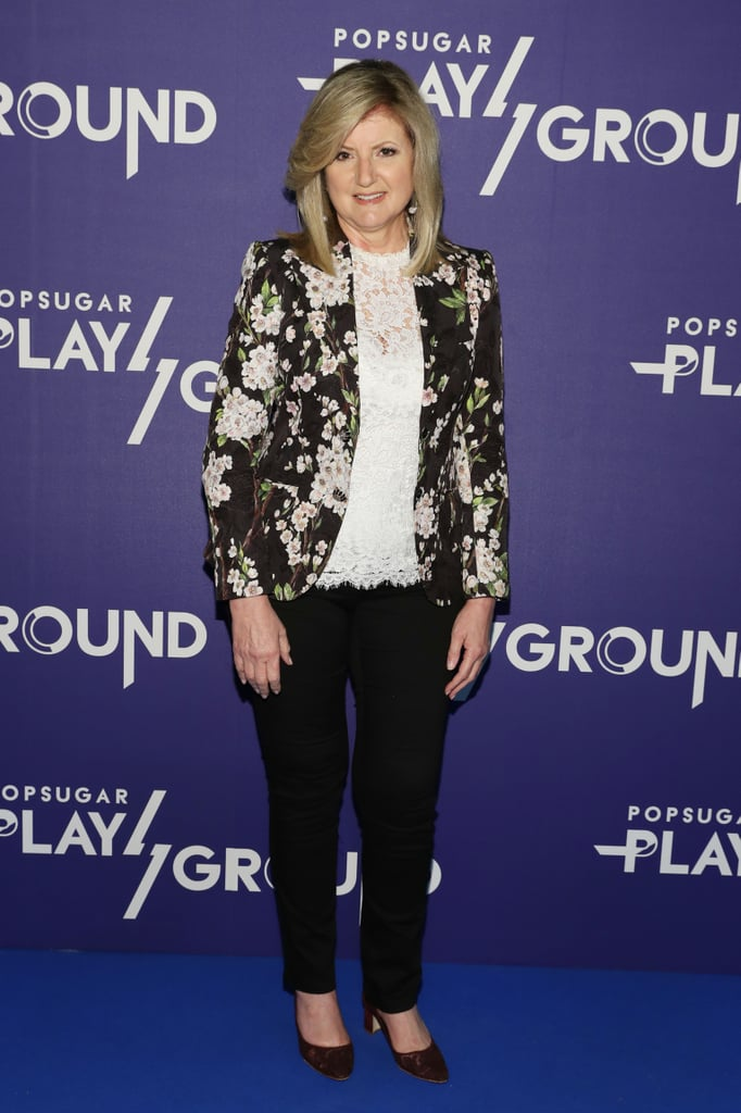 Arianna Huffington educated attendees at the first POPSUGARPLAYGROUND event!
