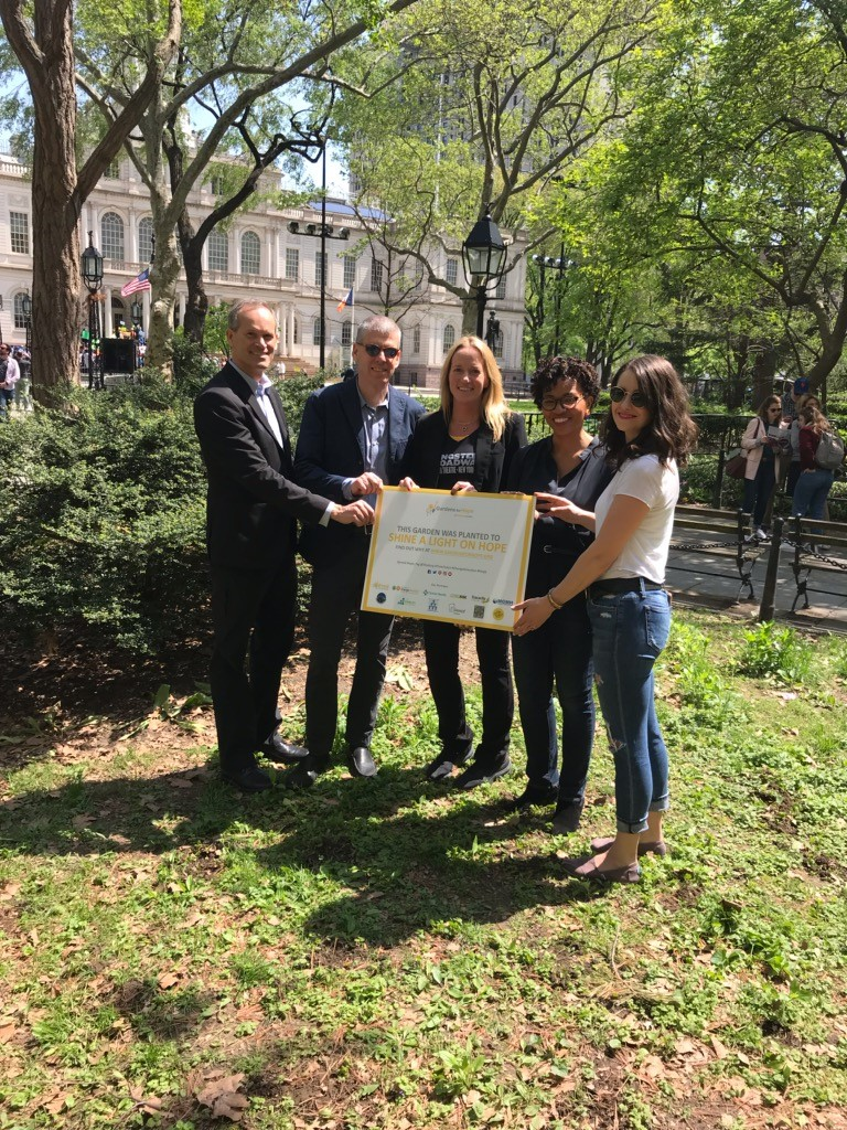 Garden for Hope planted at NY City Hall thanks to ThriveNYC. Be sure to stop by and check it out!