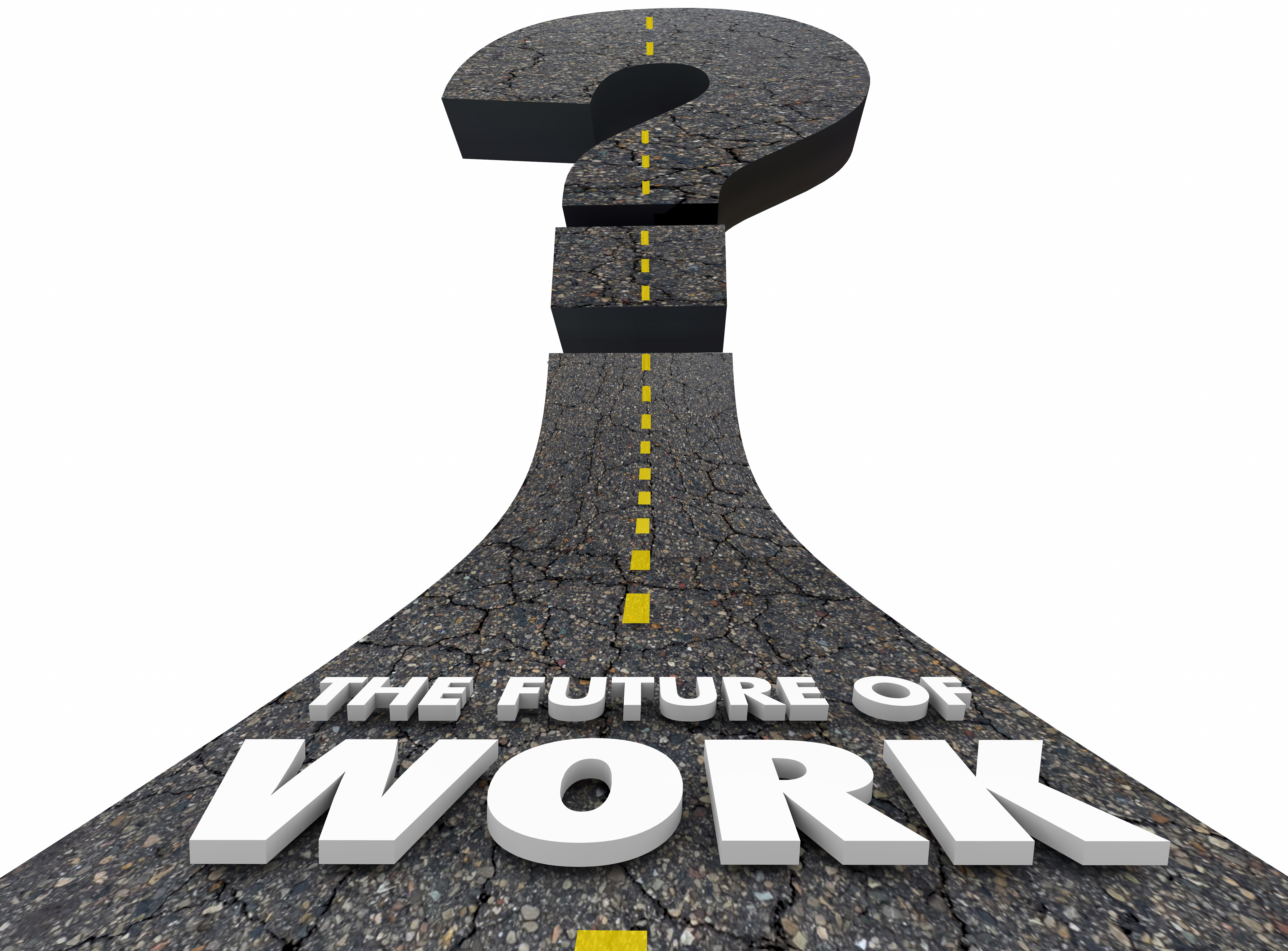 Future of Work Road Jobs Employment Moving Forward 3d Illustration