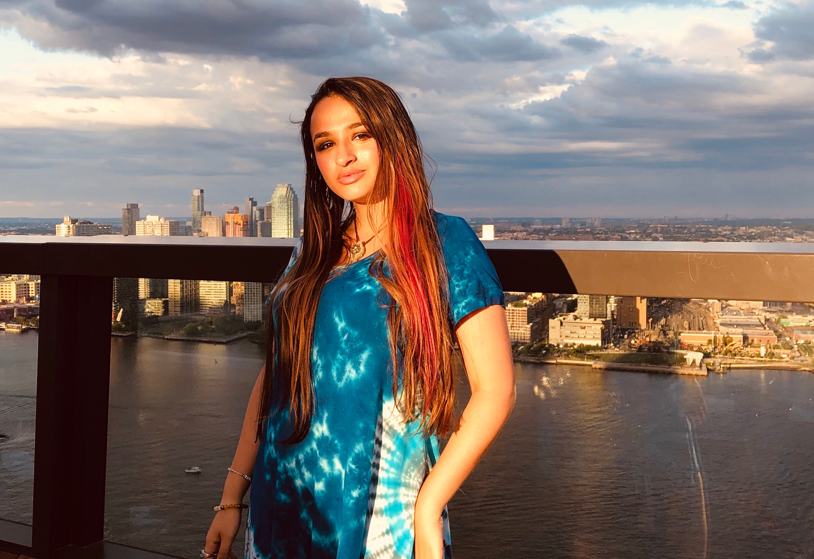 Jazz Jennings in NYC on June 6, 2019. Photo Credit: Lindsey Benoit O'Connell for Thrive Global.