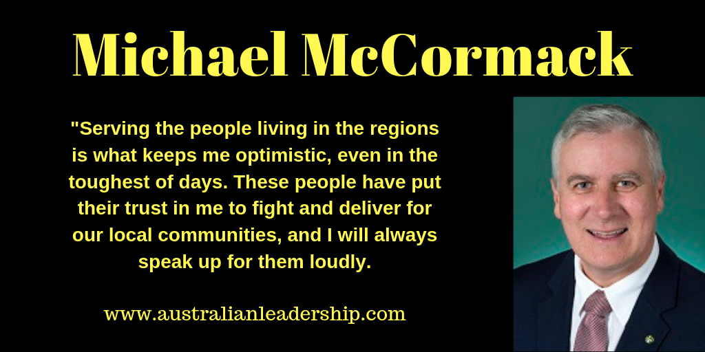 Michael McCormack on his Optimism