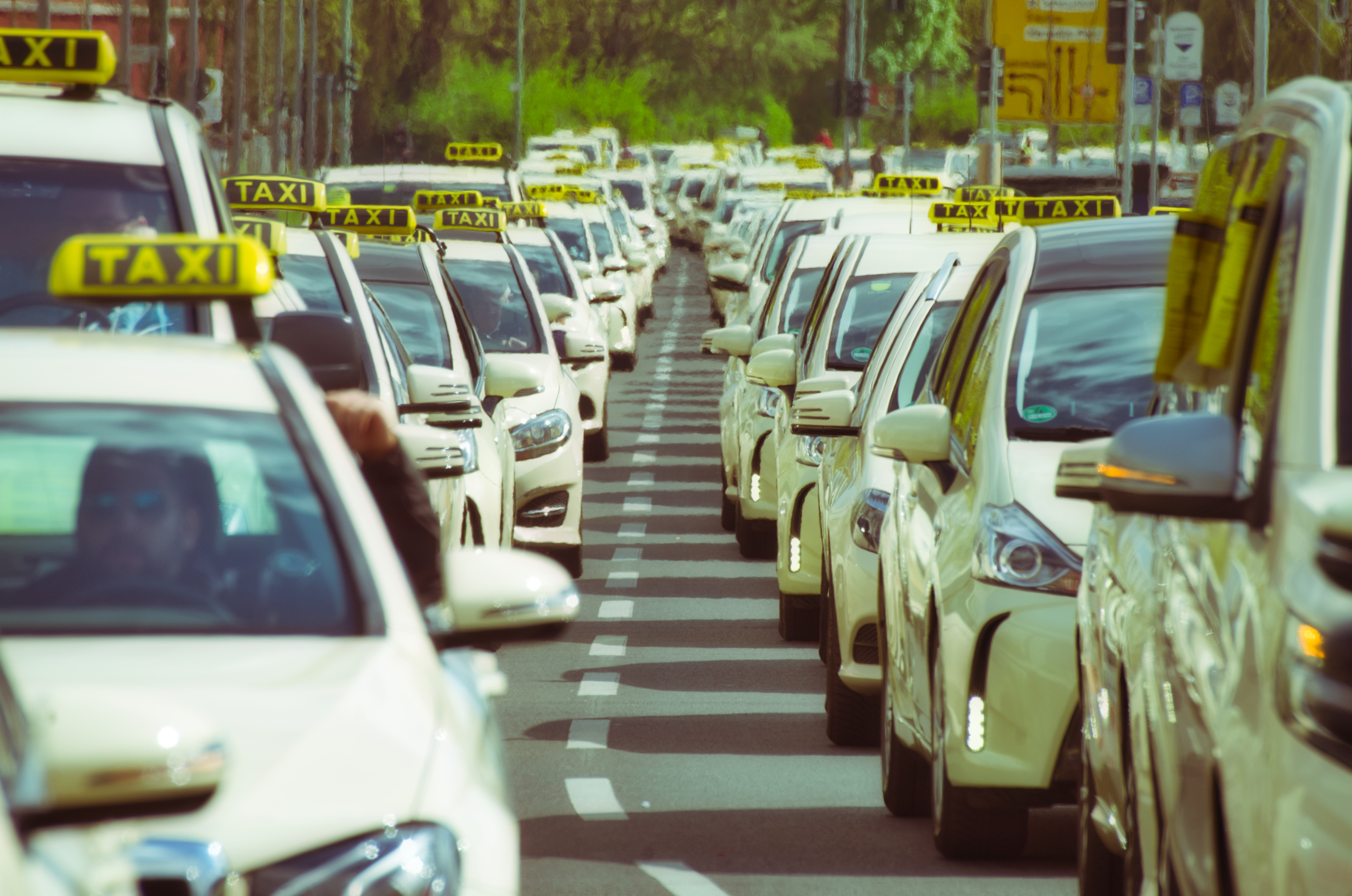 drivers on strike representing worker dissatisfaction