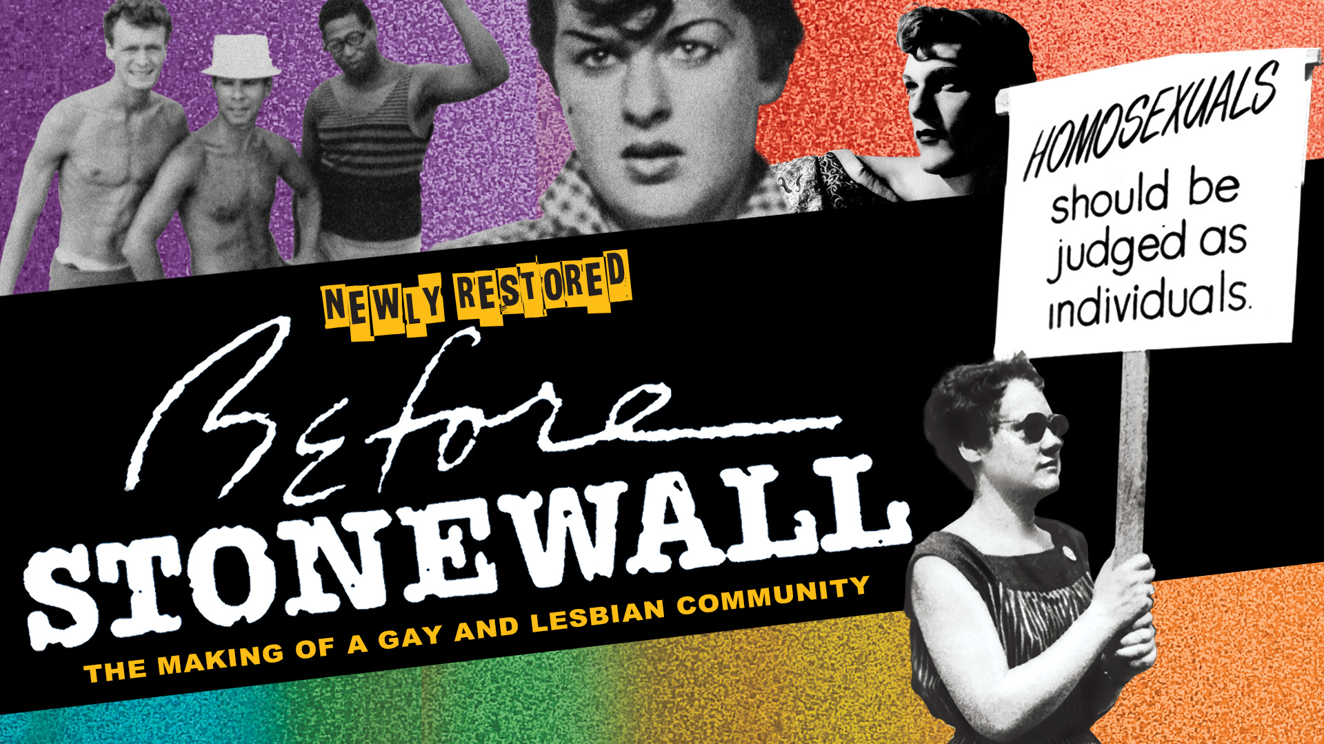 The poster for the rerelease of Greta Schiller's 'Before Stonewall'