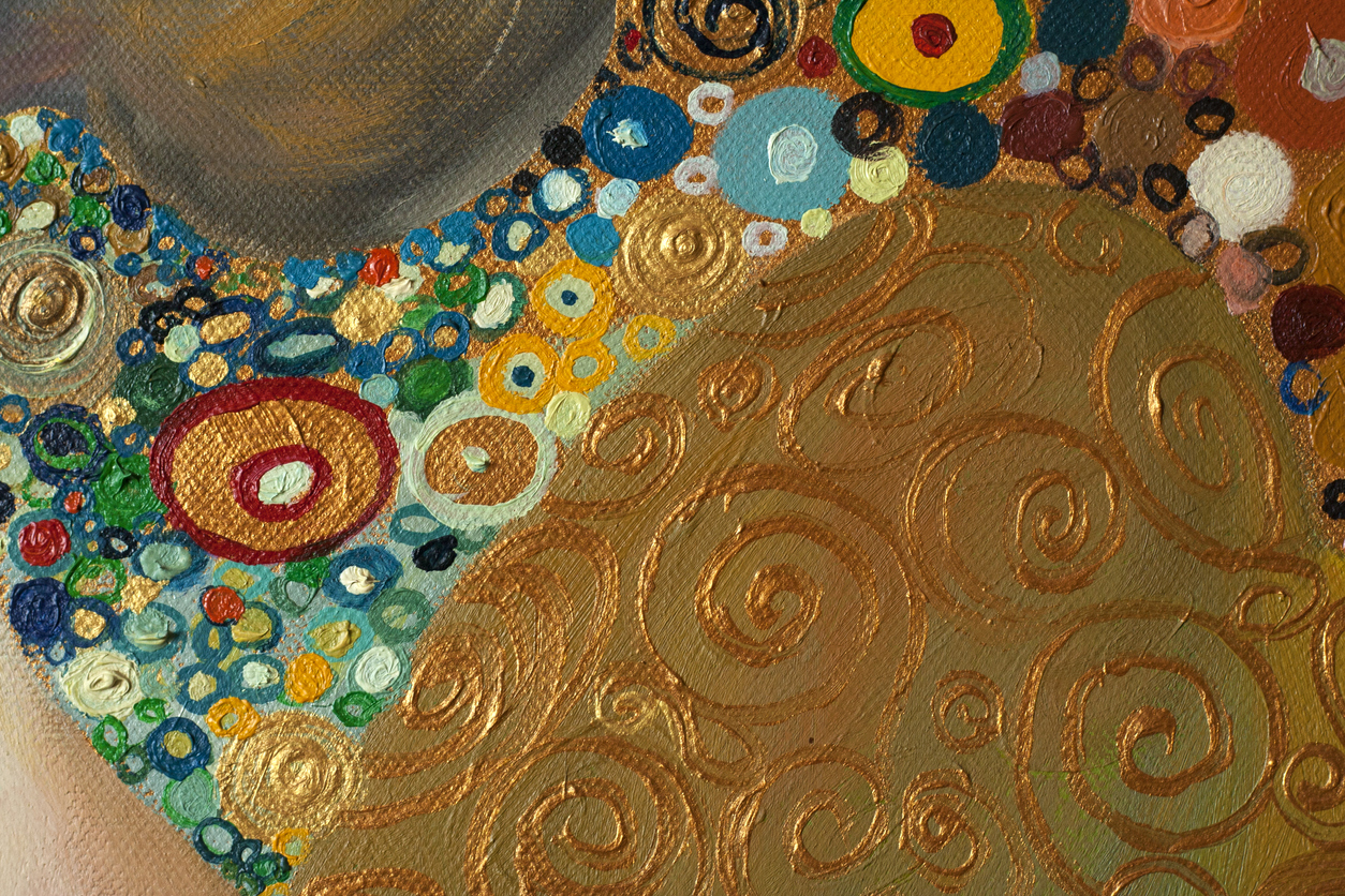 Texture, background and Colorful Image of an original Abstract Painting composition,oil on Canvas.